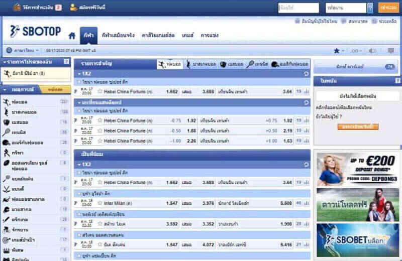 Sbotop online รวมเกมมากว่า 200 เกมในเว็บเดียว